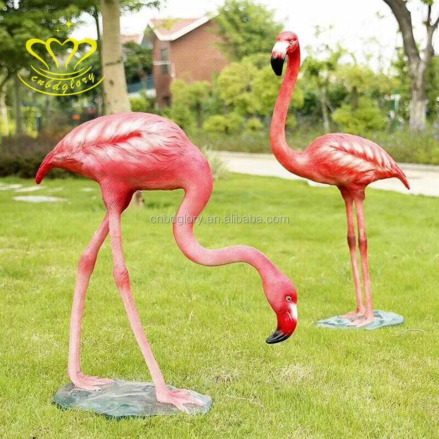 Outdoor Decoration Flamingo Fiberglass Sculpture, Outdoor Decoration ...