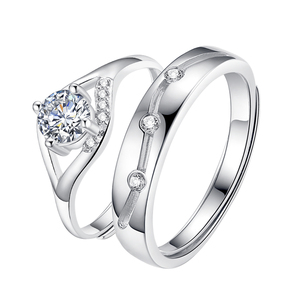 925 sterling silver adjustable size engagement rings for wedding