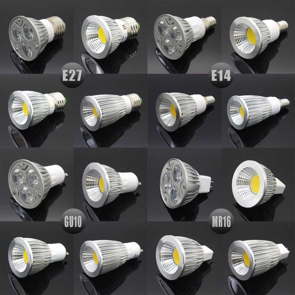 e27 e14 gu10 mr16 led cob spotlight dimmable 6w 9w 12w 15w spot light bulb high power lamp ac dc. Black Bedroom Furniture Sets. Home Design Ideas