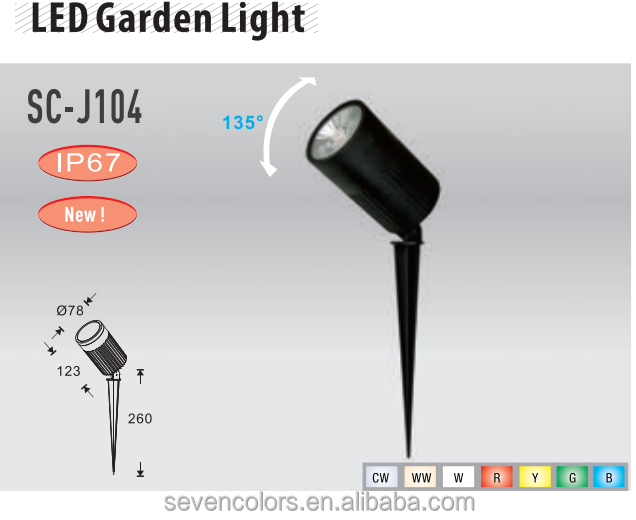 SC-J104 30W outdoor garden landscape light 220V 110V 12V cob waterproof garden path outdoor led spotlight