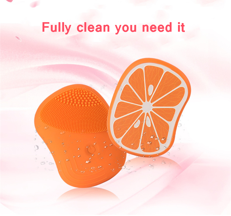 2019 new fruit design ultrasonic electric facial cleansing brush electric face cleaning brush