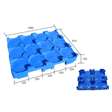 Standard size 1080x810x170mm 5 gallon water bottle stacking plastic pallet for sale