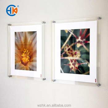 A3 Right Angle Acrylic Wall Mount Photo Frame For Art Display - Buy ...