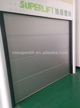Soundproof Sectional Overhead Garage Door Panel With PU Foam Inside View Larger Image