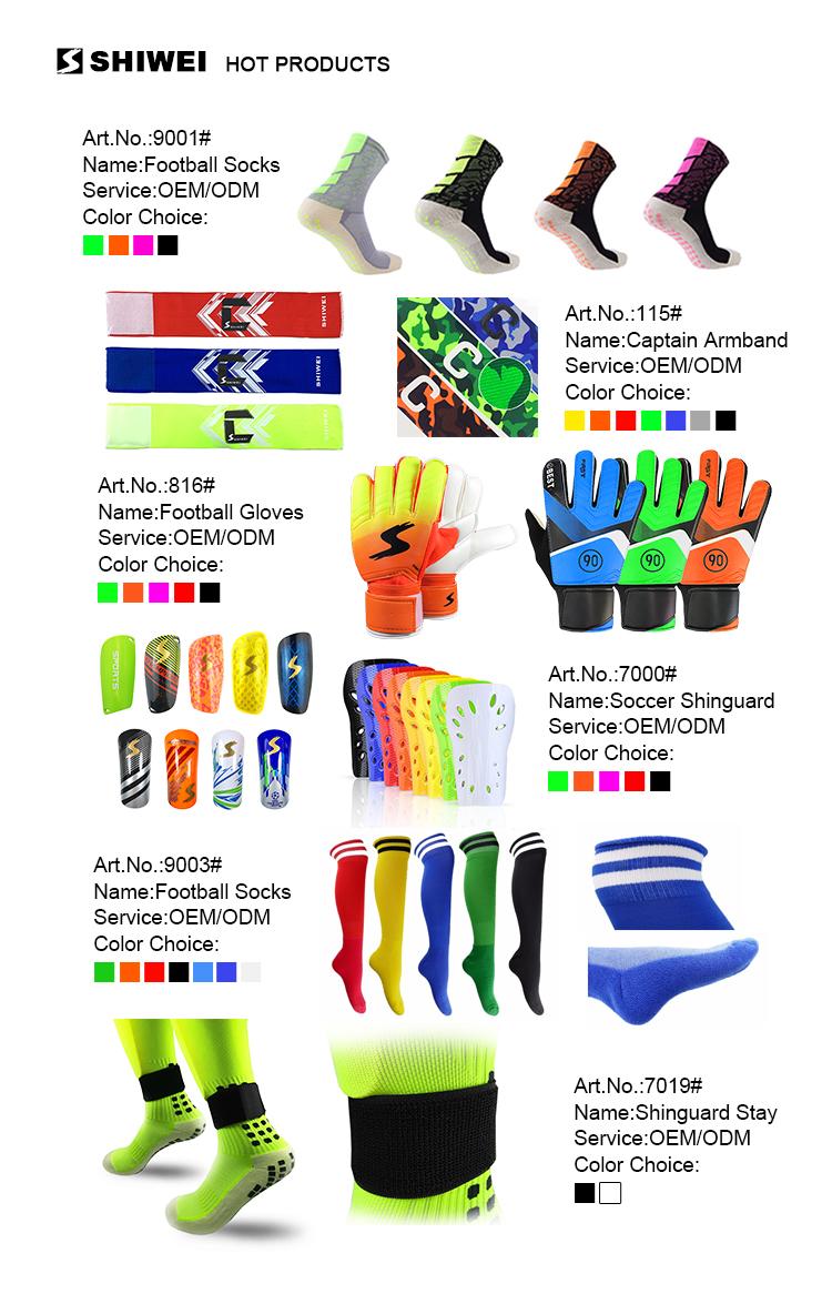 SHIWEI-1001 #โลโก้ที่กำหนดเองกัปตันทีมฟุตบอลarmbandsที่มีสีสัน