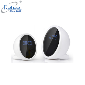 Smart home security hd 720p wireless mini wifi IP battery powered alarm Clock Camera