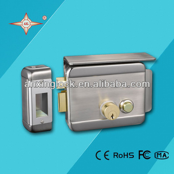 SNBN Electric Rim Lock With Double Cylinder And Cover Plate Steel Door Lock