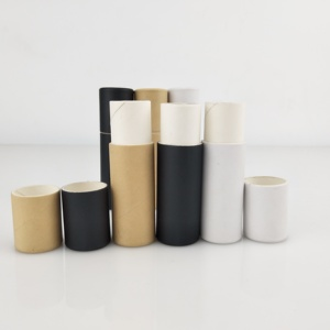 0.3oz ECO-friendly paper tube packaging cardboard push up deodorant containers