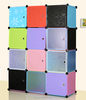 2014 new design fashion type storage cabinet, 12 cubes colorful kids plastic wardrobe FH-AL043-12