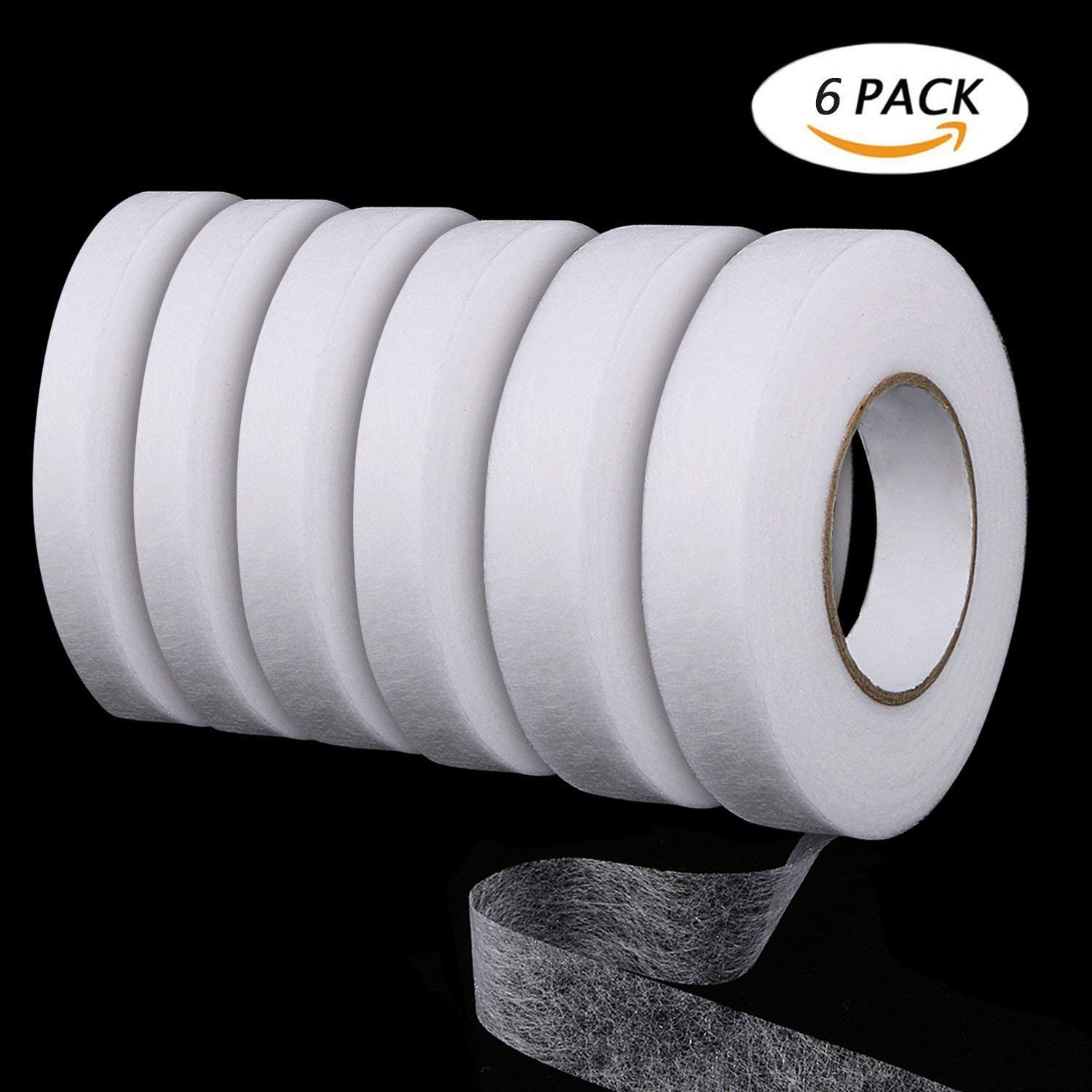 Get Quotations Auwoo 6 Pack Hemming Tape Fabric Fusible Web Adhesive Iron On Each 70