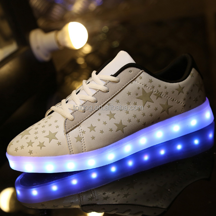 Online Light Up Shoes For Adults Women Men Flat Sport Sunning Shoes