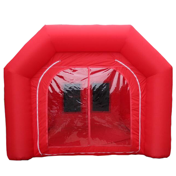 Outdoor car wash tent inflatable used car spray booth for sale