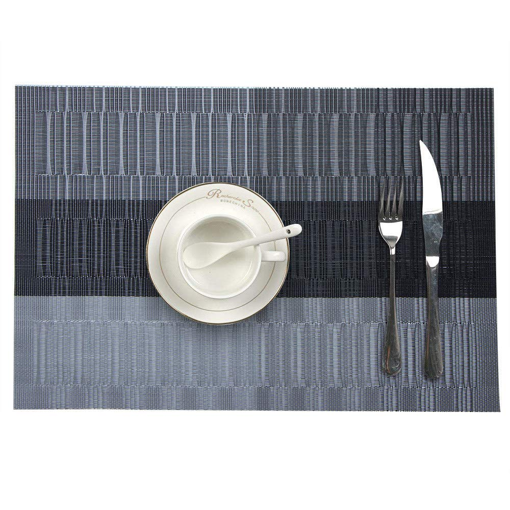Unpara 2018 Placemat With Compatible Crossweave Insulation Placemat Washable Table Mats Set (C)