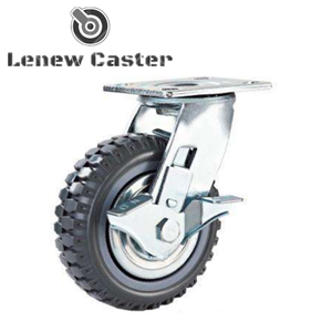 Grey pu plastic caster wheel