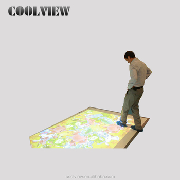 Interactive magic projection 3D floor/wall system for advertising, exhibition and museum