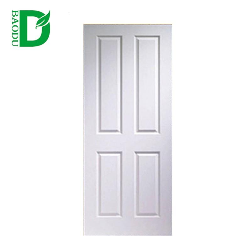 Modern White Wood Bedroom Interior Door