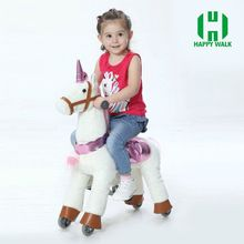 Factory price kid riding walking mechanical moving horse toys
