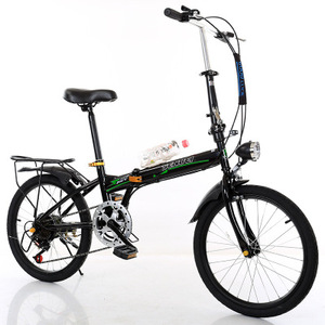 Wholesale folding bicycle children bike 21 speed mountain bike with back seat