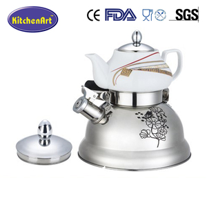 stainless steel twin kettle set