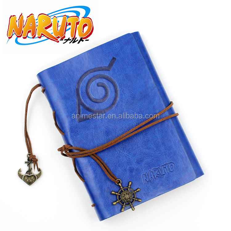 Good quality Naruto Cartoon Travel Diary Writing leather paper Book