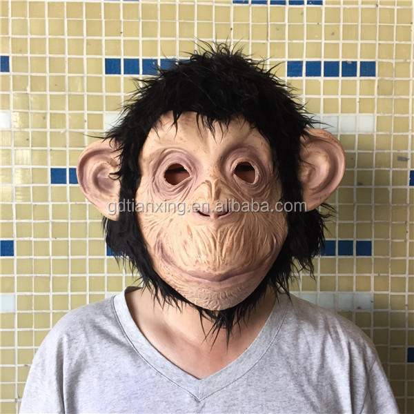 3D monkey rubber masks for Halloween,movie