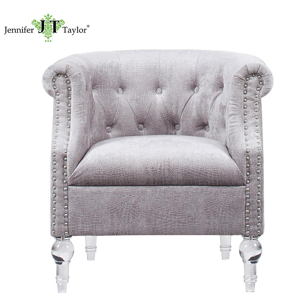 Franse woonkamer accent getuft arm stoelen met acryl benen ...