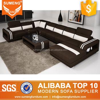 Sumeng U Shape Contrast Color Fabric Sofa Set View Larger Image