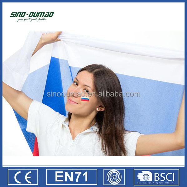 2018 World Cup Printed Blue White Red Flag Country Flag