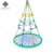 Dropship High Quality Custom Wholesale multicolor kis infant park outdoor round rope net swing