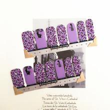 Purple Dot Nail Arts Sticker 14 pcs set Waterproof Nail Decal Art Sticker Gel Polish Manicure