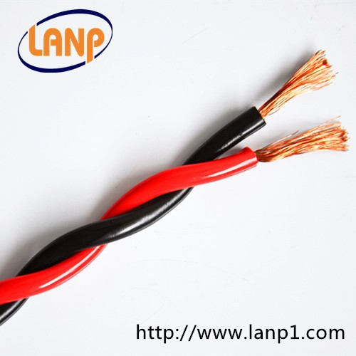 Red And Black Electric Wire 2x0.75mm Twisted Pair Cable - Buy Red ...