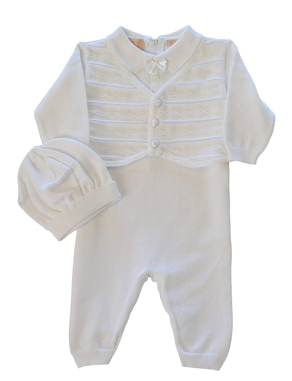 f632f55d8 Get Quotations · Boutique Collection Baby Boys' Christening Outfit with  attached Vest and Hat