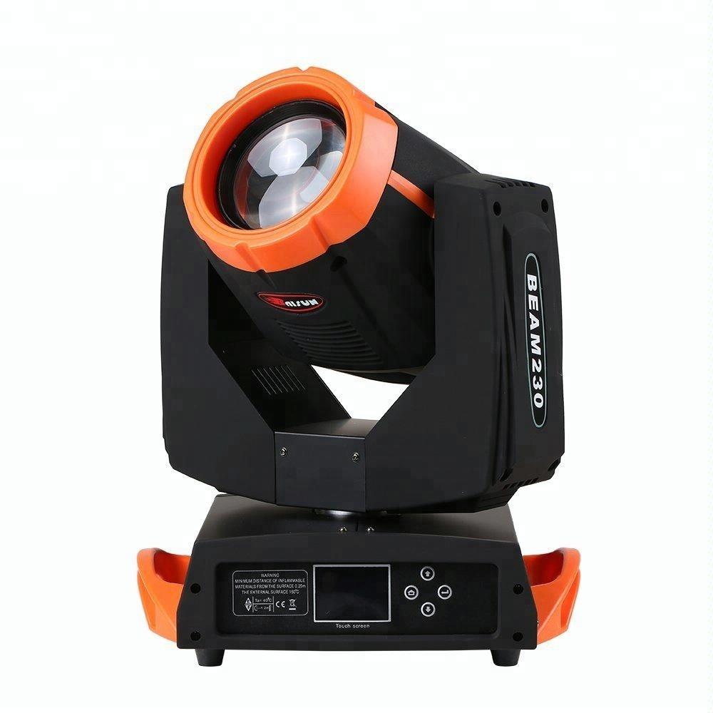 Baisun brand led beam 7r 230w moving head light with dmx 512 control sound control wedding stage 7r 230w