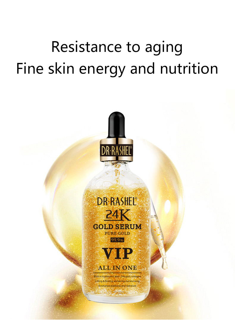 Hyaluronic Acid Essence Lifting Firming Ampoule Whitening Moisturizing Gold Collagen Makeup Primer 24K Gold Serum