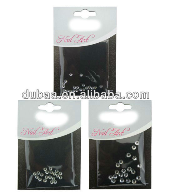 New Artificial Diamond Nail Art DIY Glitters Slices of Nail Art Design 3D Round Rhinestone Nail Sticker