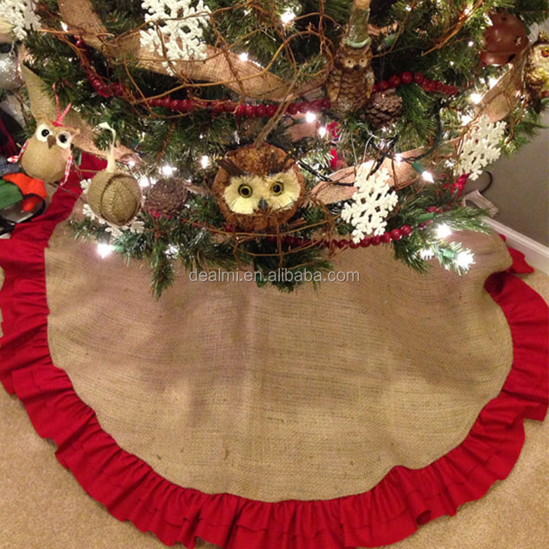 DEMIZXX034 Burlap Beautiful Holiday Gorgeous Chrismas Tree Skirt
