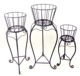 outdoor metal garden pot planter wrought iron Wire Plant Stand
