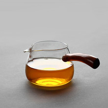 Handmade Gift Glass Tea Pot With Wooden Handle
