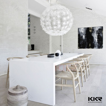 white acrylic kitchen table solid surface design restaurant clear chairs