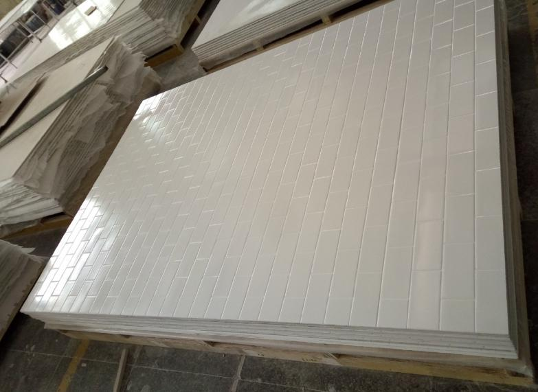 3''x6'' smooth good quality classic hotel cultured marble