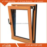 YY HOME Aluminum Inward Tilt and Turn Windows/Wood Grain Finish Aluminum Window