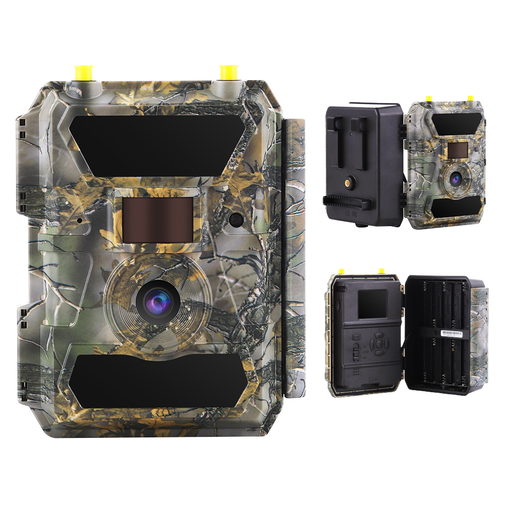 2020 New Arrival 4G LTE cellular SIM card waterproof solar power night vision hunting trail camera