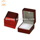Led light ring box for jewelry display