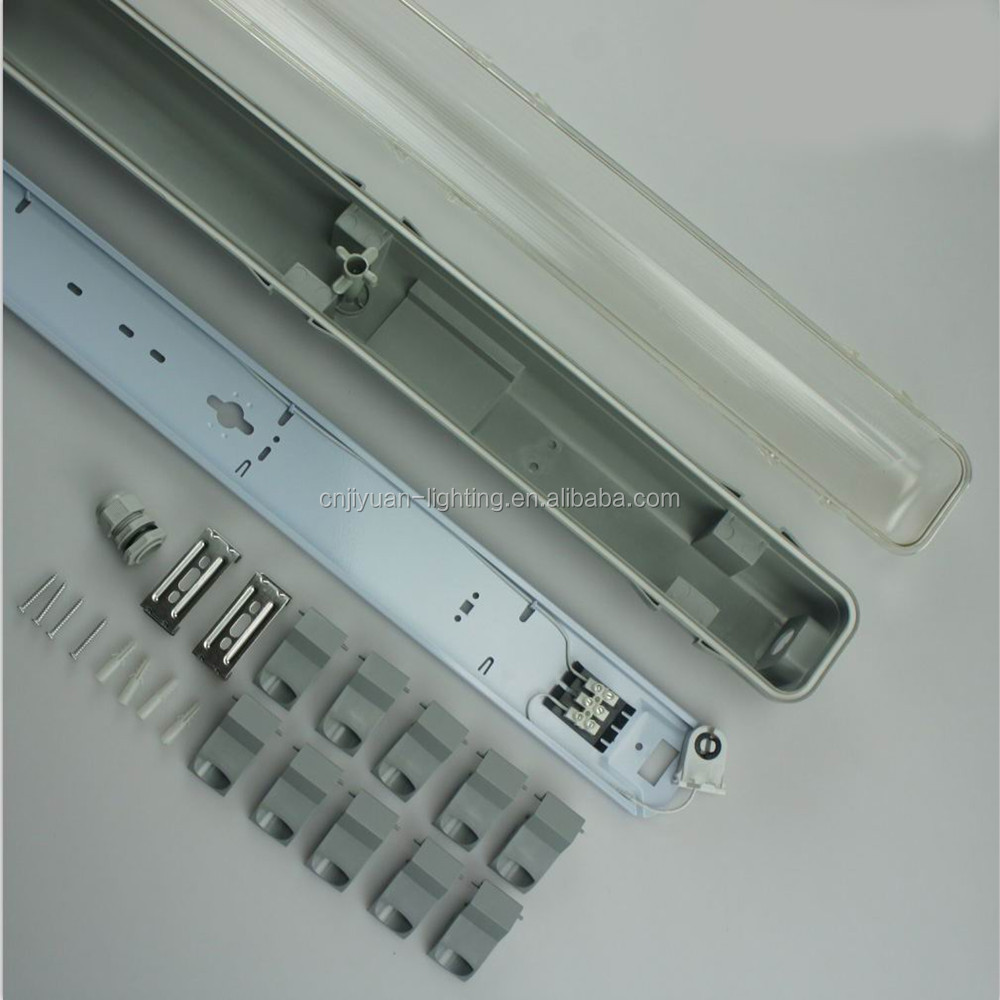 led tri-proof lamp t5 double tube light 4ft-30w 8ft 60w 2700k- 6500k IP65 ETL TUV SAA Approved Linkable in wire socket