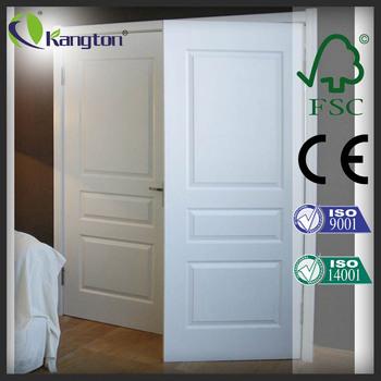 3 Panel Double Door Design White Lacquer Wooden Shaker Interior