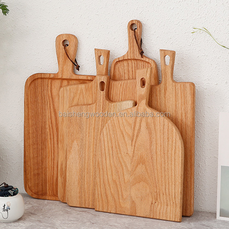 wooden chopping board oak wood cheese cutting serving boards with handle