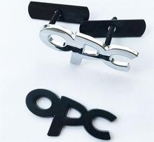 3.15$/set car styling hood grille grill badge with opc logo emblem brands marks black/silver color
