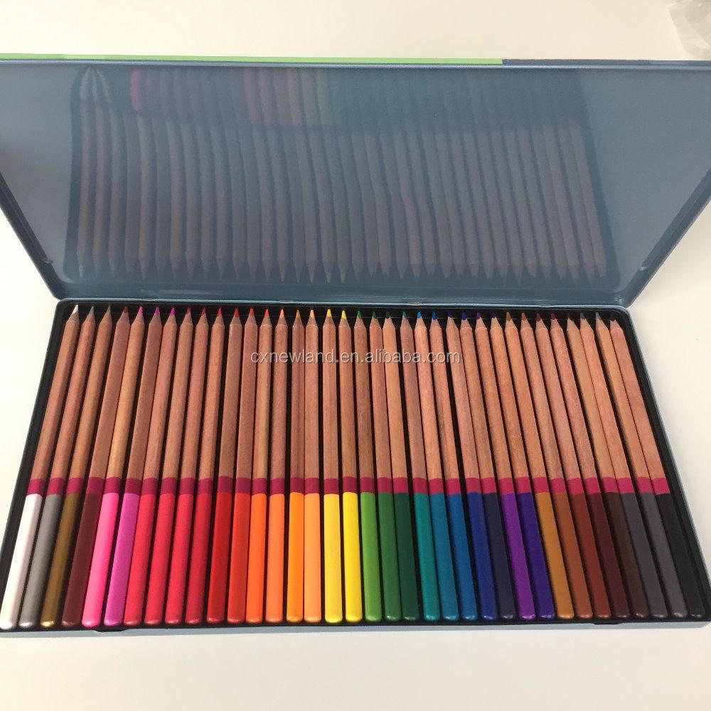 OEM 36 Piece Artist Kelas Artis Sketsa Pensil Untuk mewarnai Dewasa Set 36 Berbagai Macam Warna