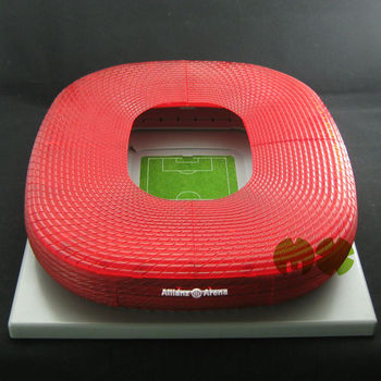 3d Football Stadium Model World Cup 2014 Brazil Fans Building Allianz Arena  Germany With Plastic Football Field And Pitch - Buy Football Stadium