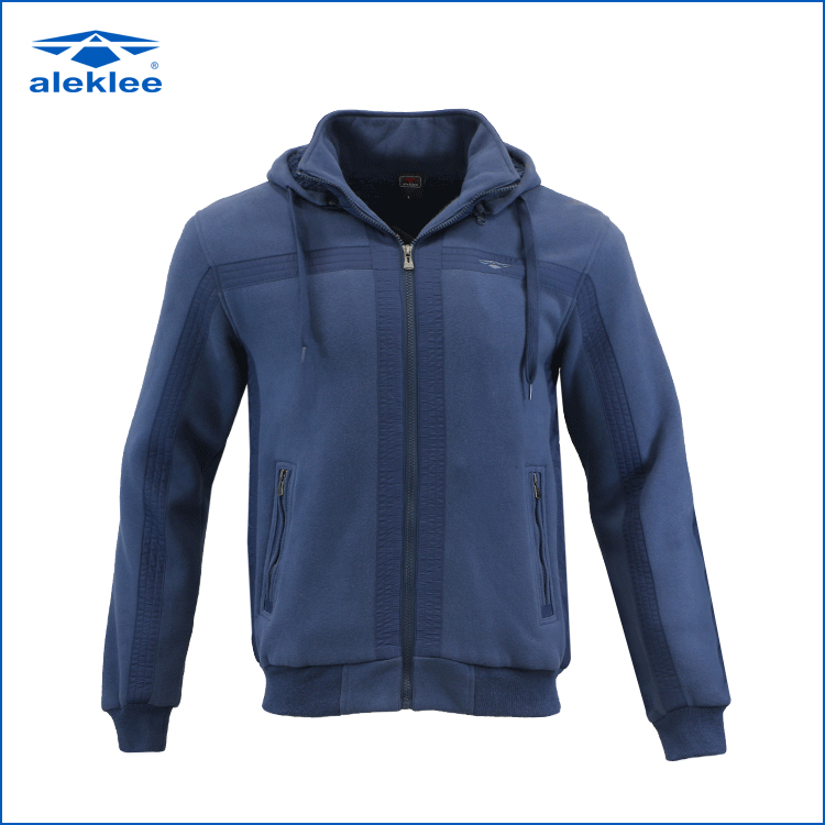 Hot sale new design long sleeve fashion ripped jacket hoodie men